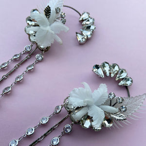 Angel Orchid Showgirl clear crystal climber cuffs