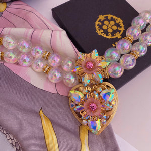 Bloom and Bubbles Double Pearl Choker