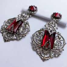 Cathedral Chandelier Vintage Glass Earrings