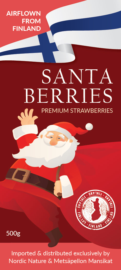SANTA BERRIES - PREMIUM STRAWBERRIES FROM FINLAND (500g)