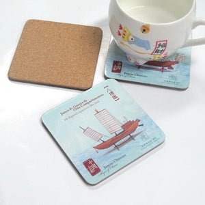 Customisable Heat Insulated Wood & Cork Coasters