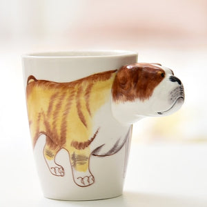 3D Animal Hand Painted Mugs