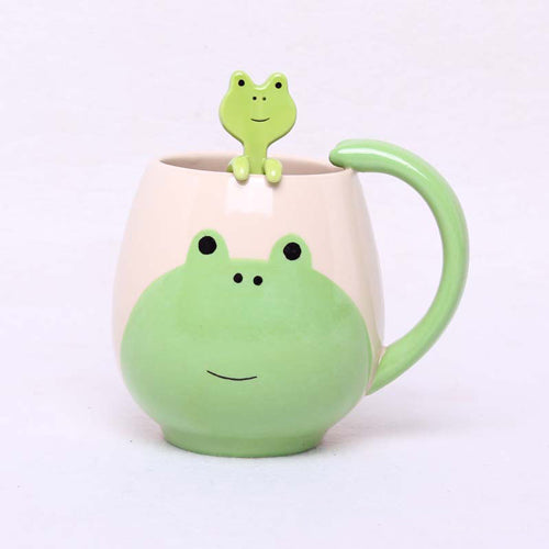 Hand-painted Frog Mug and Spoon