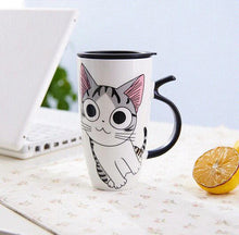 Cute Cat Portable Mugs With Lids