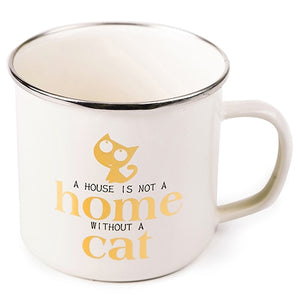 Cute Cat Enamel Mug | Your Magic Mug