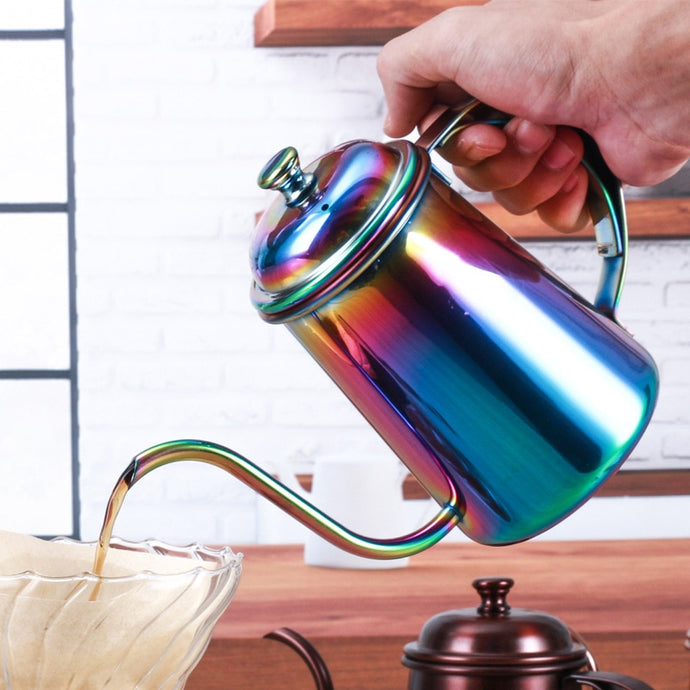 Pour-Over Goose-neck Coffee Pot & Lid
