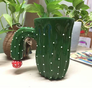 3D Cactus Ceramic Mugs | Your Magic Mug