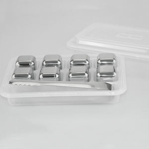 Stainless Steel Whisky Stones + Storage Box