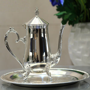 Chic Antique Silver Tea Set Stainless Steel | Your Magic Mug