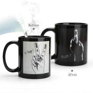 Peace & F*ck Heat Sensitive Mug | Your Magic Mug