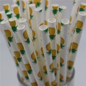 Pineapple Paper Straws 25pcs/lot