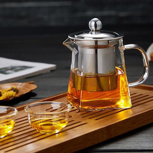 Heat Resistance Modern Teapot Jug With Infuser Filter | Your Magic Mug