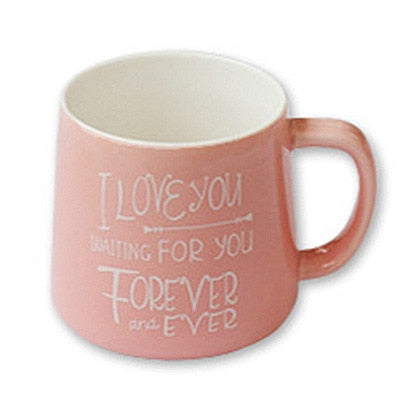Cute Pink Flamingo Mug with Lid and Spoon