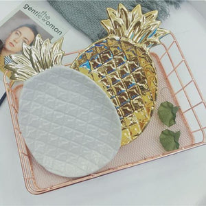 Decorative Pineapples & Leaves Plates | Your Magic Mug