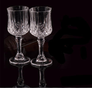 Retro Crystal Wine Glasses - 2 pcs