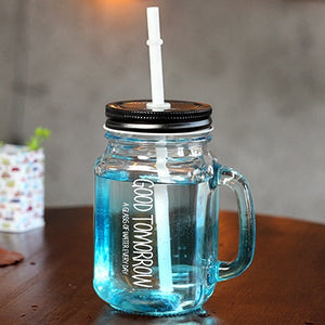 Colorful Mason Jar with Lid and Straw | Your Magic Mug