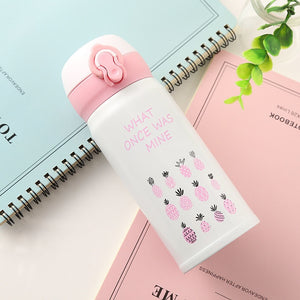 2019 Flamingos & Pineapple - Stainless Steel Thermos - Vacuum flask