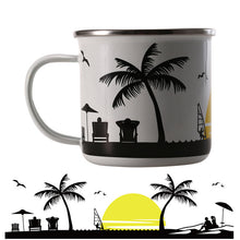 Beach Time Enamel Mug