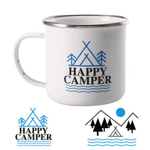 Happy Camper Enamel Mug
