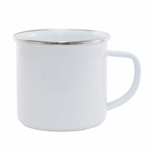 Big White Enamel Mug