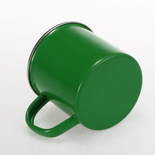 Big Green Enamel Mug