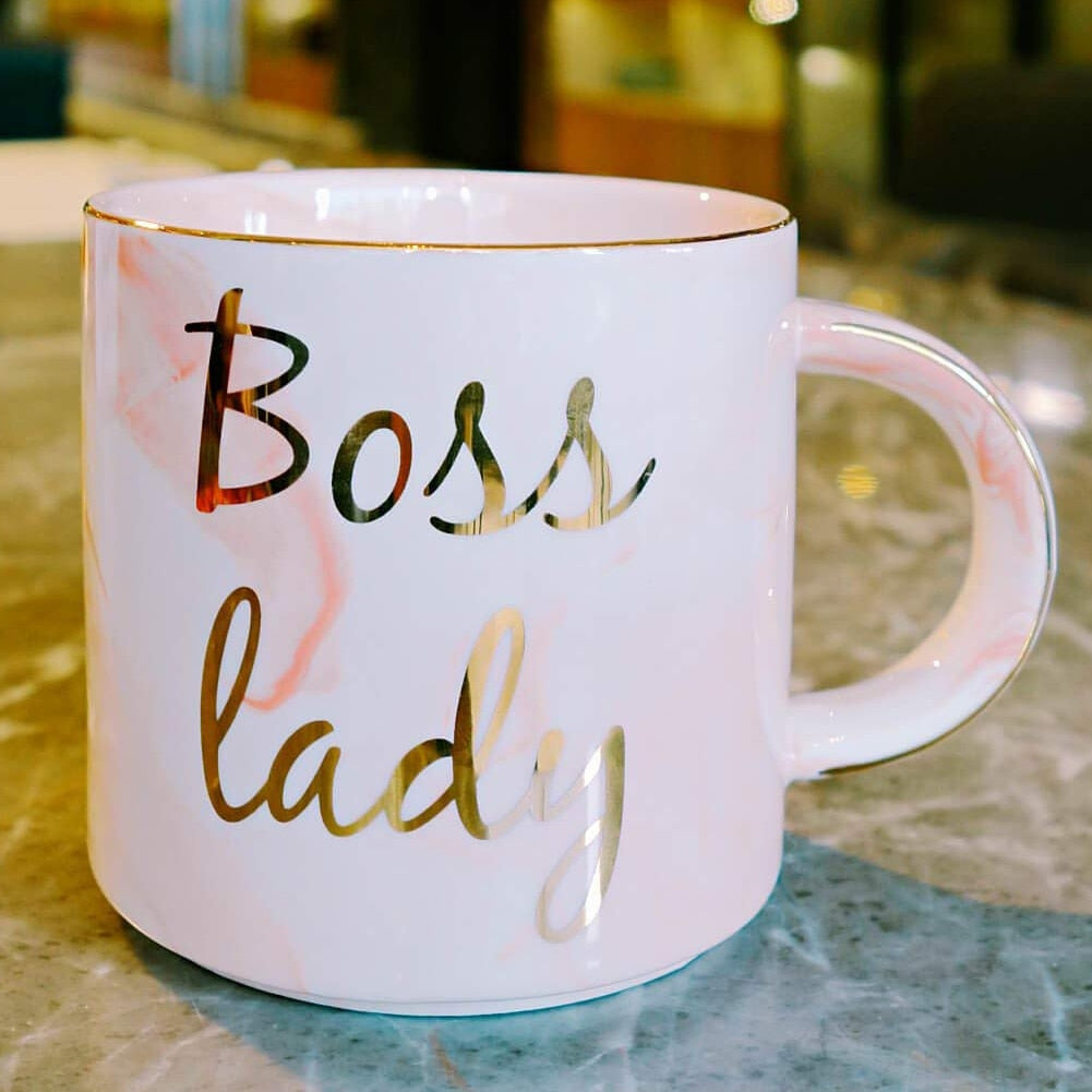 Boss Lady - Chic Gold & Marble Mug