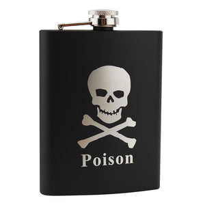Poison Skull Stainless Steel Flask | Your Magic Mug