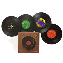 Retro Vinyl Record Coasters - 2 - 4 or 6 pcs