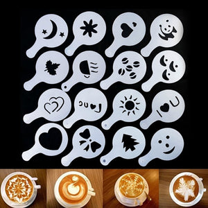 Coffee Art Stencils - 16 pcs | Your Magic Mug