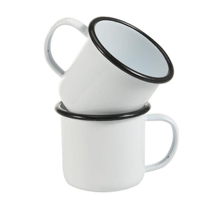 Plain White Enamel Mug | Your Magic Mug