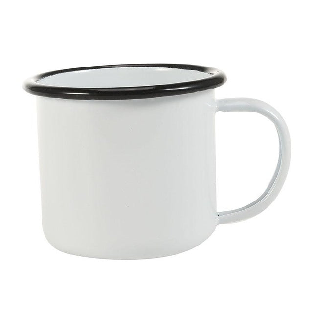 Plain White Enamel Mug
