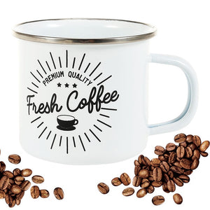 Fresh Coffee Enamel Mug | Your Magic Mug