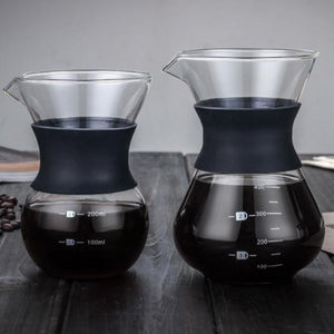 Glass & Stainless Poor-Over Coffee Maker | Your Magic Mug