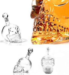 Skull Carafe - Wine Decanter - 2 pieces
