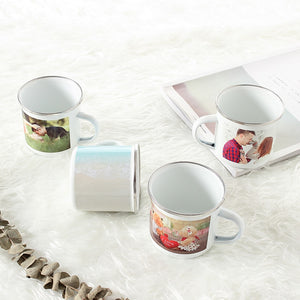 Personalized Enamel Mugs - Add Your Own Design, Logo or Picture
