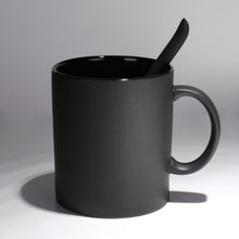 Matte Black Chalkboard Mug and Spoon