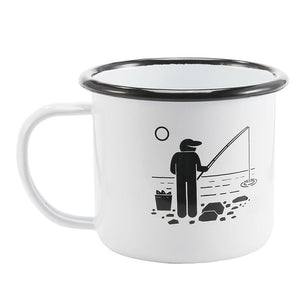 Enamel Mugs - Animals & Plants Collection Fishing | Your Magic Mug