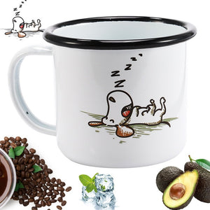 Enamel Mugs - Animals & Plants Collection Sleepy Dog | Your Magic Mug