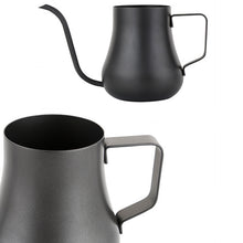 Black Curvy Stainless Steel Pour-Over Goose-neck Coffee Pot | Your Magic Mug