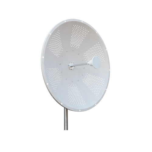 2.3-2.7GHz 27dBi Parabolic 3 feet Dual pol Dish Antenna with Reduced Wind Load 2-pack