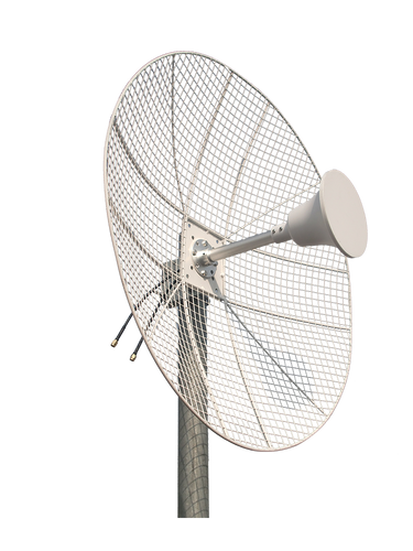 2.3-2.7GHz 22dBi Parabolic MIMO Grid Dish Antenna for Less Wind Load 2-Pack