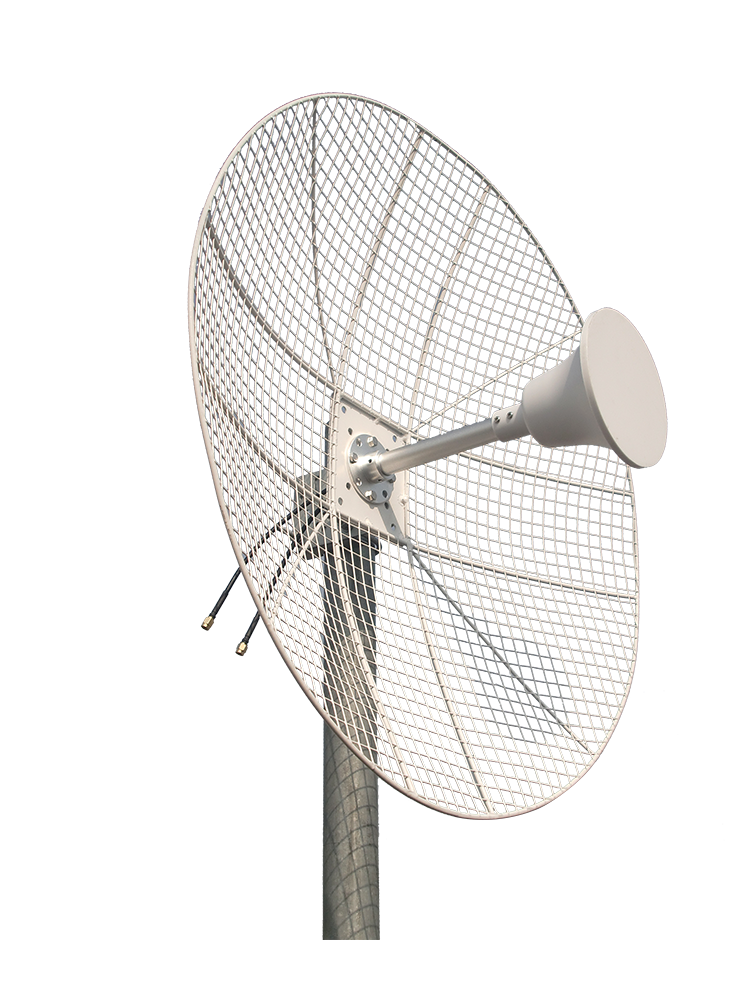2.3-2.7GHz 22dBi Parabolic MIMO Grid Dish Antenna for Less Wind Load 1-Pack