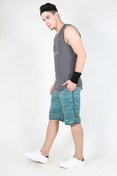 Yogue Men Green Shorts
