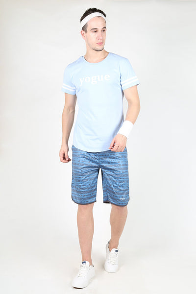 Yogue Blue Triangle Shorts