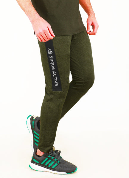 Military Green Slim-Fit Joggers