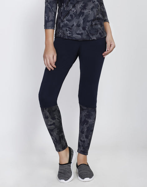 Navy Camo 2Tone Tights