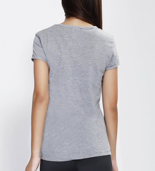 Light Grey Minimal Cotton T-Shirt