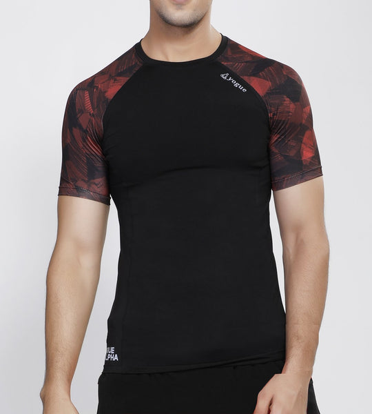 Black Red Compression T-Shirt