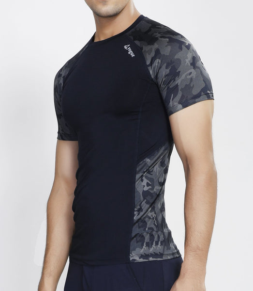 Navy Camo Compression T-Shirt
