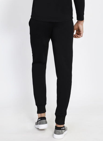Solid Black French Terry Joggers